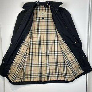 Burberry London Nova Check Black RainCoat Jacket 8